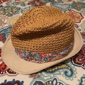Paisley banded beach hat